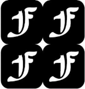 šablona za izradu airbrush ili glitter privremene tetovaže slova pismo F