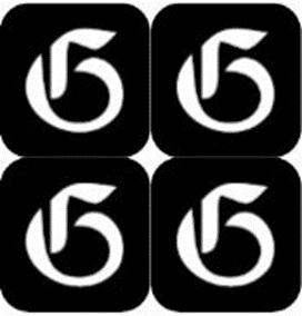 šablona za izradu airbrush ili glitter privremene tetovaže slova pismo G