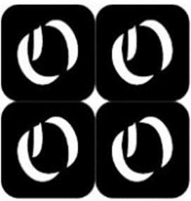 šablona za izradu airbrush ili glitter privremene tetovaže slova pismo O
