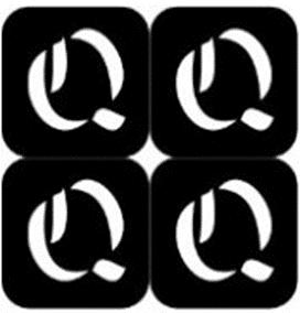 šablona za izradu airbrush ili glitter privremene tetovaže slova pismo Q