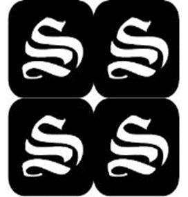 šablona za izradu airbrush ili glitter privremene tetovaže slova pismo S