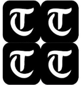 šablona za izradu airbrush ili glitter privremene tetovaže slova pismo T