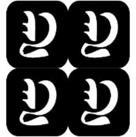 šablona za izradu airbrush ili glitter privremene tetovaže slova pismo Y