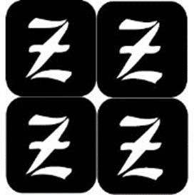 šablona za izradu airbrush ili glitter privremene tetovaže slova pismo Z
